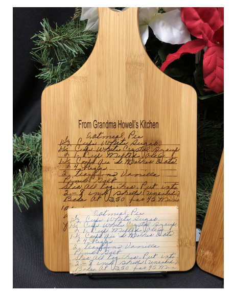 Photo Engraved Recipe Cutting Board. - C & A Engraving and Gifts