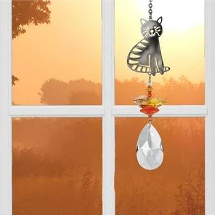 Crystal Fantasy Sun Catcher Dog. Angel Sun Catcher. Turtle Sun Catcher. - C & A Engraving and Gifts