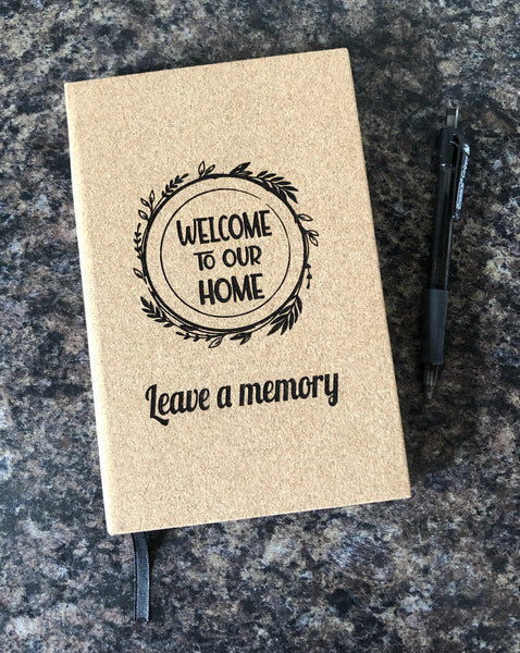Personalized Journal. Engraved Leatherette Journal. Graduate Gift. Religious Gift. Vacation Home Memory Book. - C & A Engraving and Gifts