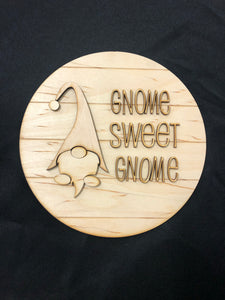 Shiplap DIY Gnome Wooden Sign. Gnome Sweet Gnome Farmhouse Decor. Paint It Yourself. - C & A Engraving and Gifts