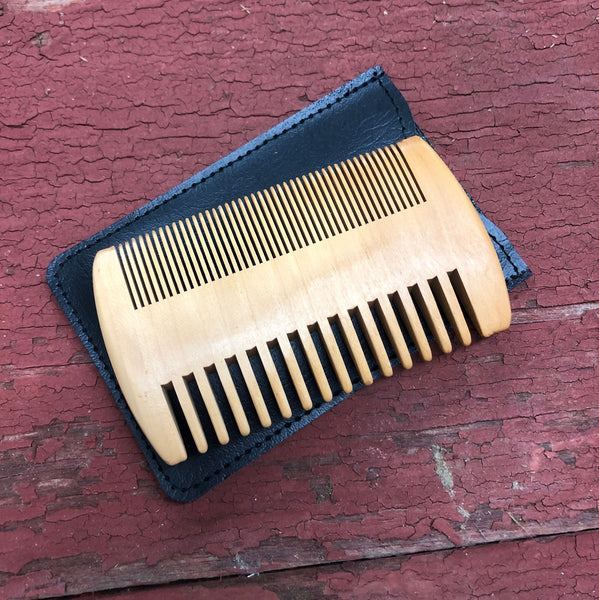 Personalized Wooden Beard Comb & Case. Groomsman Gift. Engraved Beard Comb. Custom Beard Brush. - C & A Engraving and Gifts