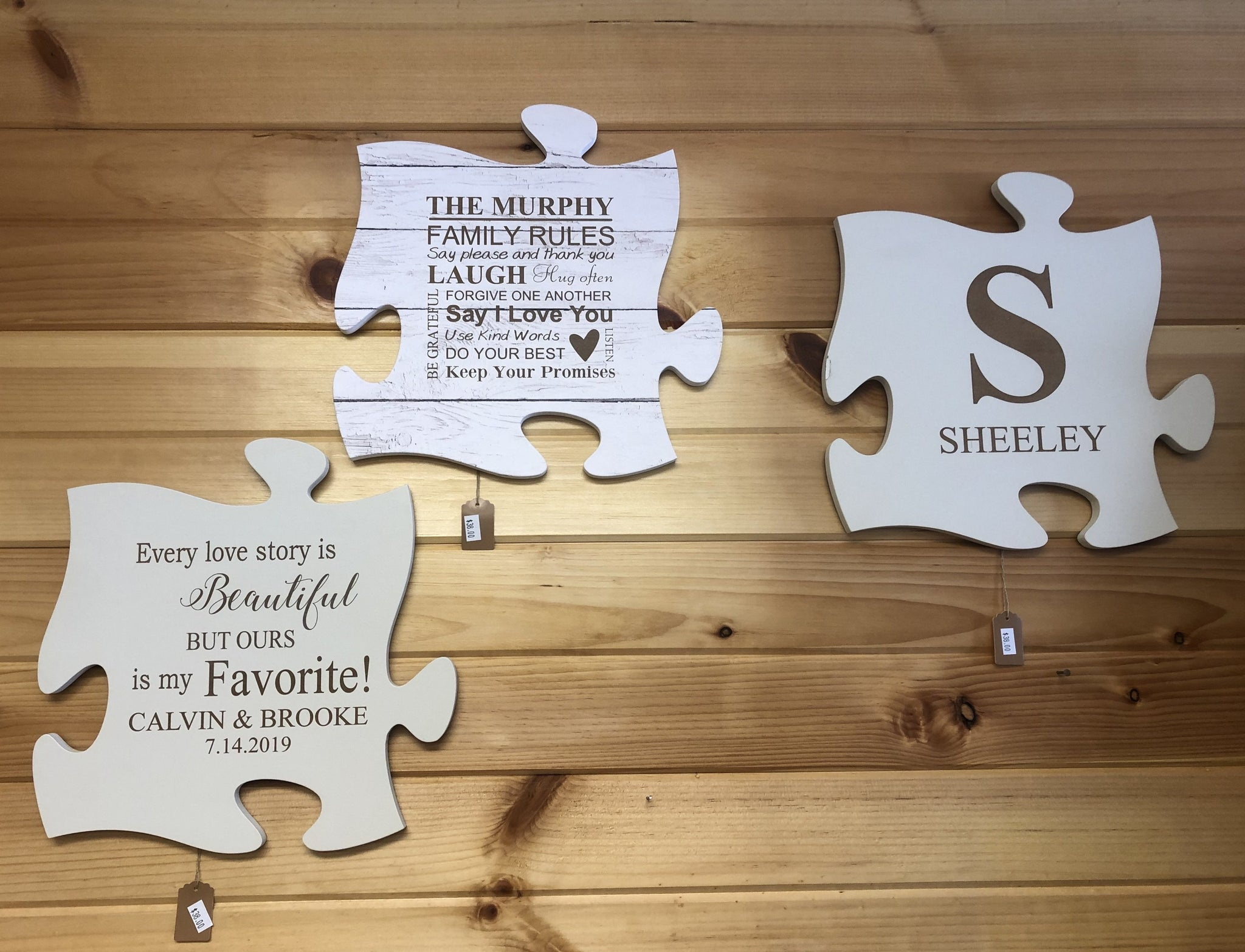Personalized Puzzle Wall Plaques. Engraved Puzzle Wall Decor. - C & A Engraving and Gifts