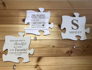Personalized Puzzle Wall Decor. - C & A Engraving and Gifts