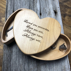 Jewelry Box Heart Shaped With Hidden Drawers - C & A Engraving and Gifts