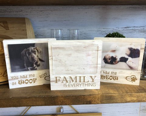 Personalized Pet Photo Frame. Weathered Pet Frame. - C & A Engraving and Gifts