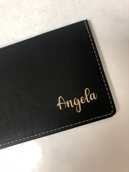 Personalized Checkbook Cover. Engraved Religious Checkbook Holder. Leatherette Checkbook. - C & A Engraving and Gifts