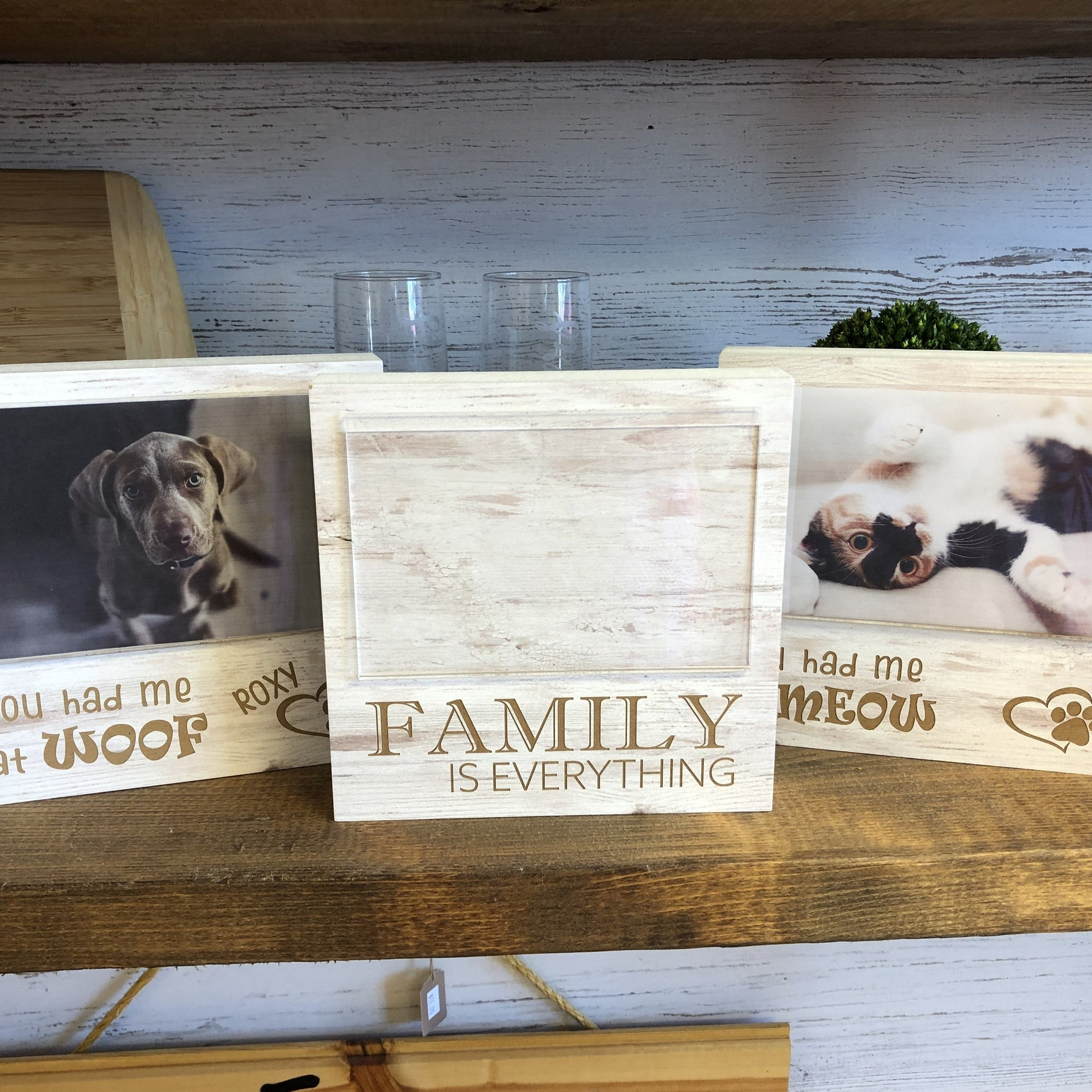 Family Is Everything Photo Frame. Weathered Family Frame. - C & A Engraving and Gifts