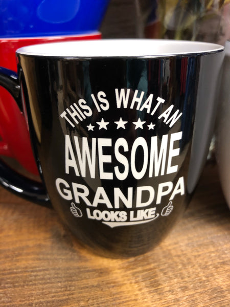 Awesome Grandpa and Grandma Coffee Mug. - C & A Engraving and Gifts