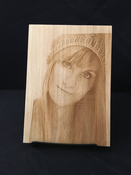 Photo Engraved Wooden Board. Photo Transfer Onto Wood. - C & A Engraving and Gifts