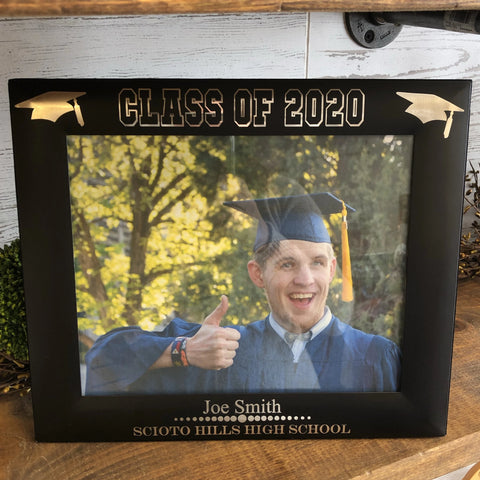Graduation Photo Frame. 2020 Graduate Picture Frame. - C & A Engraving and Gifts