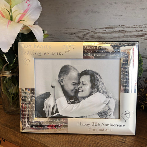 Wedding Anniversary Photo Frame. Anniversary Picture Frame. - C & A Engraving and Gifts