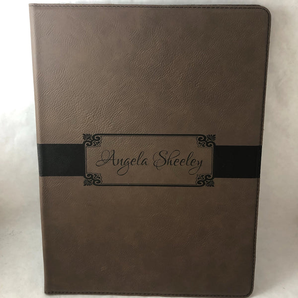 Engraved Personalized Portfolio. Coaches Portfolio. Graduate Portfolio. - C & A Engraving and Gifts
