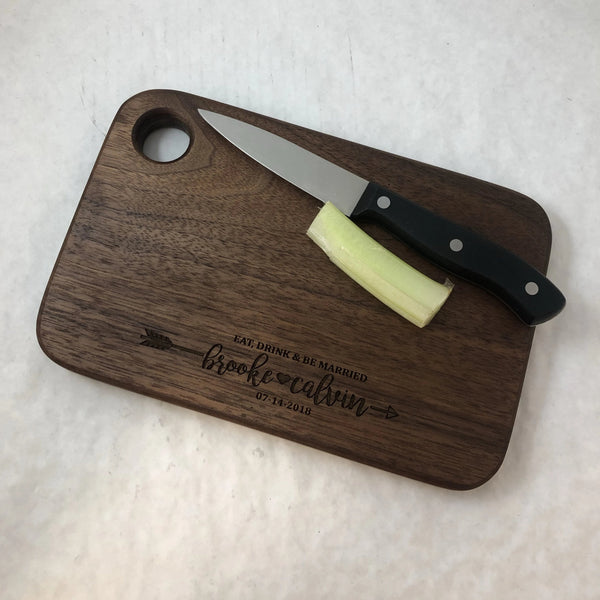 Personalized Wedding or Anniversary Cutting Board. - C & A Engraving and Gifts