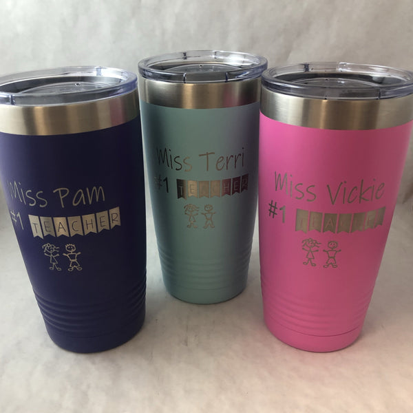 Teacher Appreciation Tumbler. #1 Teacher Cup. - C & A Engraving and Gifts