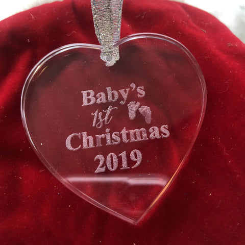 Baby's First Christmas Ornament - C & A Engraving and Gifts
