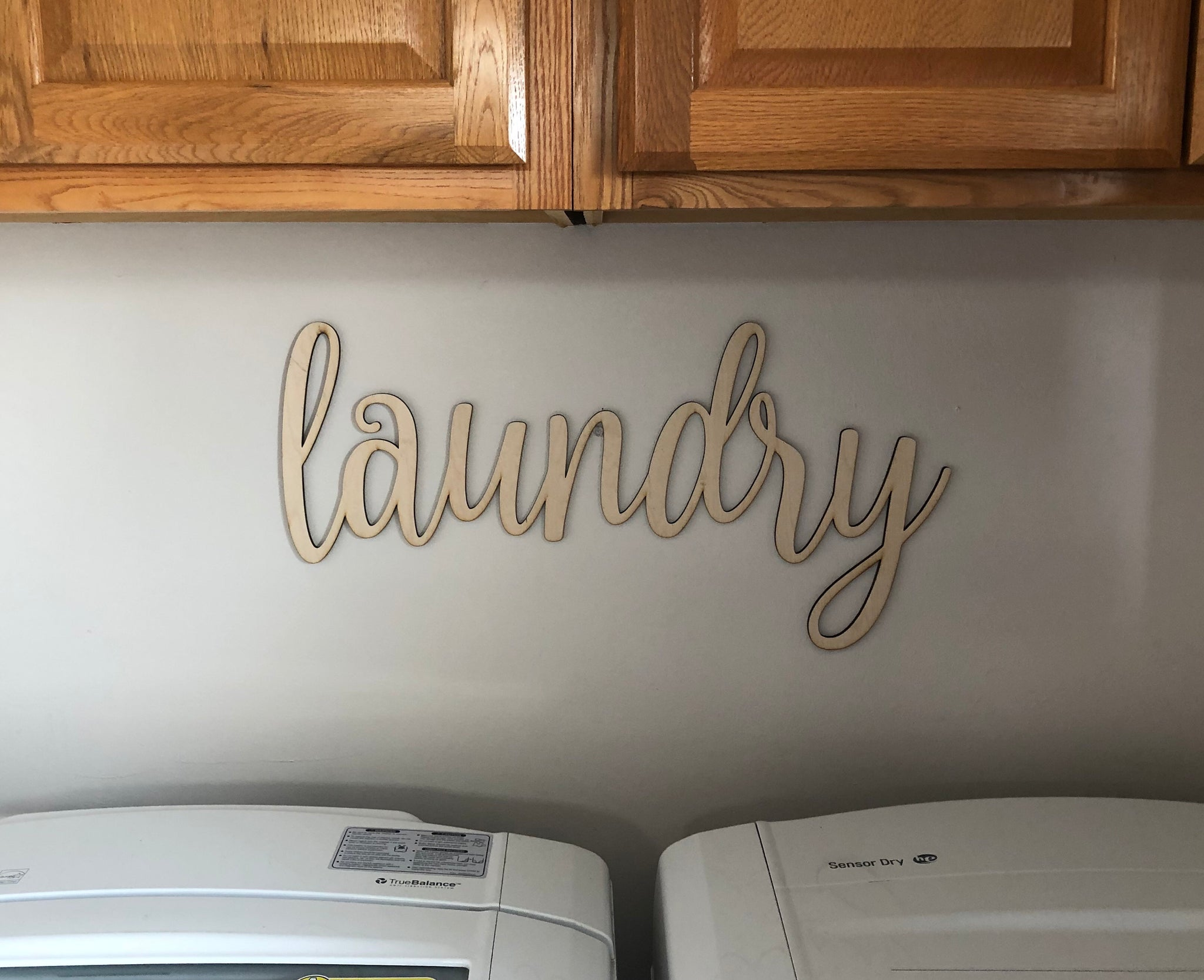 Laundry Words. Laundry Wall Decor. Wood Word Cut Out. Wooden Laundry Cut Out. Laundry Sign. - C & A Engraving and Gifts