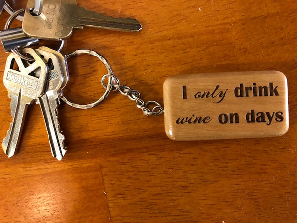 Keychain for Wine Drinkers - C & A Engraving and Gifts