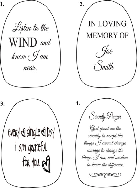 Wind Chimes Personalized. Memorial Wind Chimes. Woodstock Wind Chimes. - C & A Engraving and Gifts