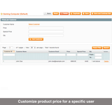 Prices per Customer for Magento