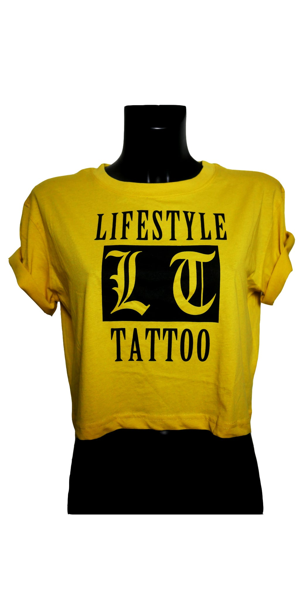 Lifestyle Tattoo LT Box Logo Dam Gul/Svart