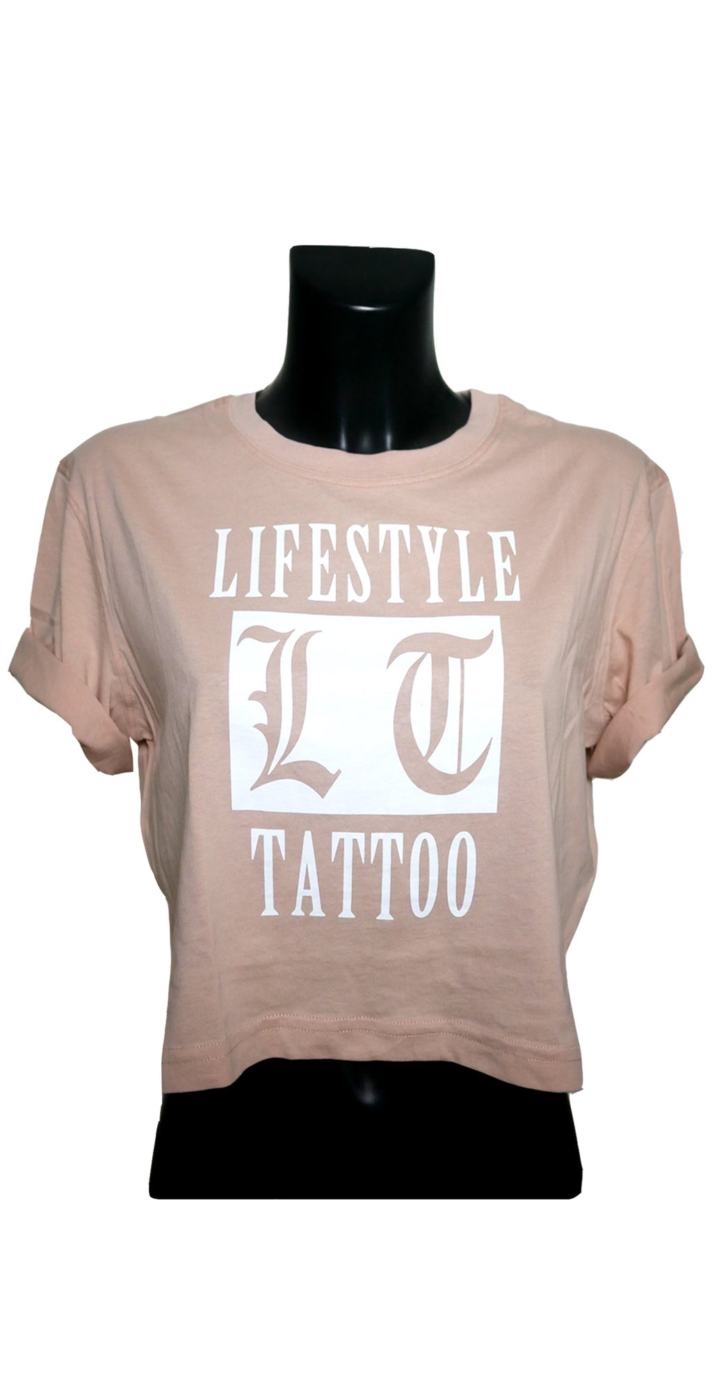 Lifestyle Tattoo LT Box Logo Dam Rosa/Vit