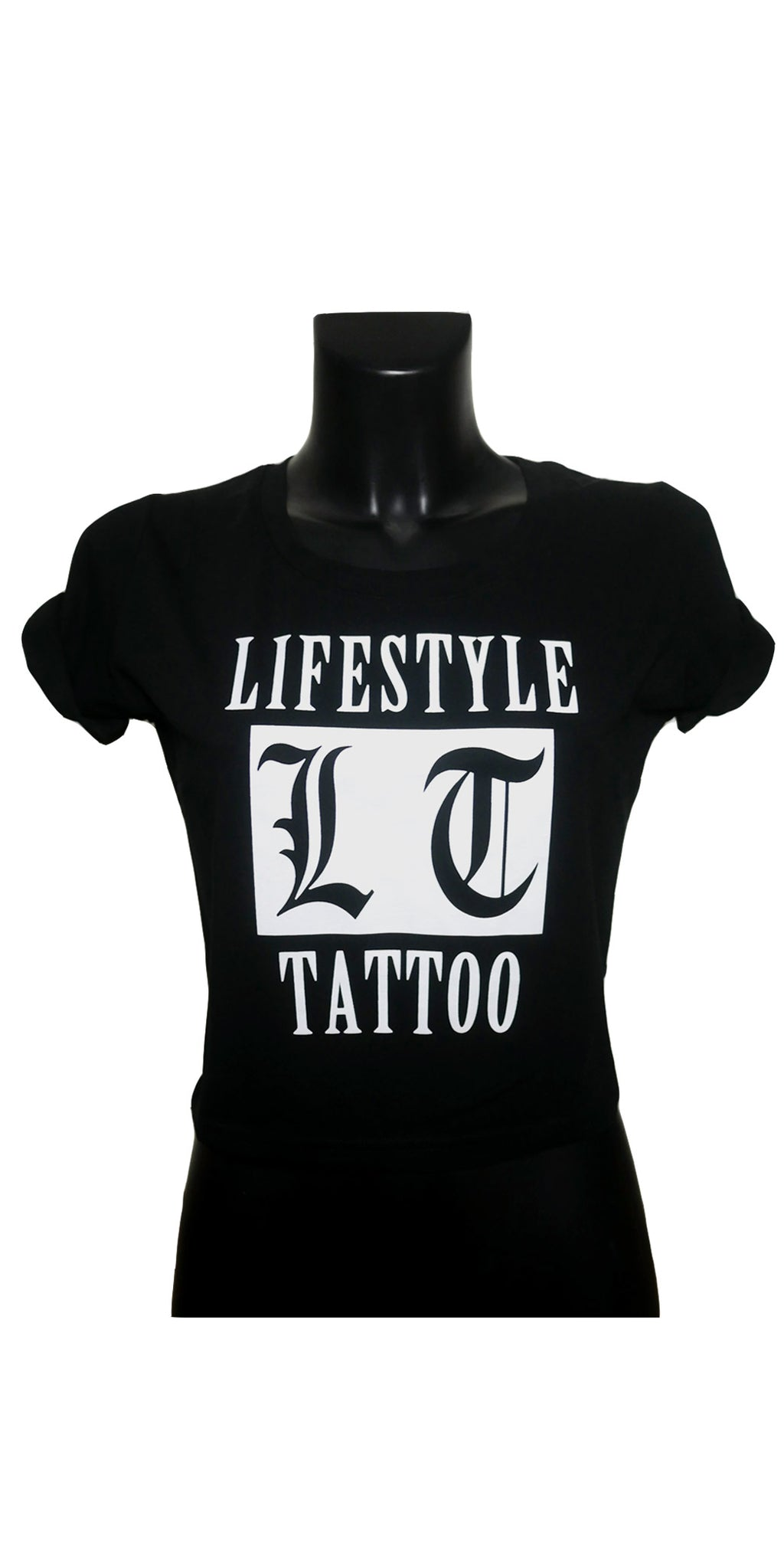 Lifestyle Tattoo LT Box Logo Dam Svart/Vit