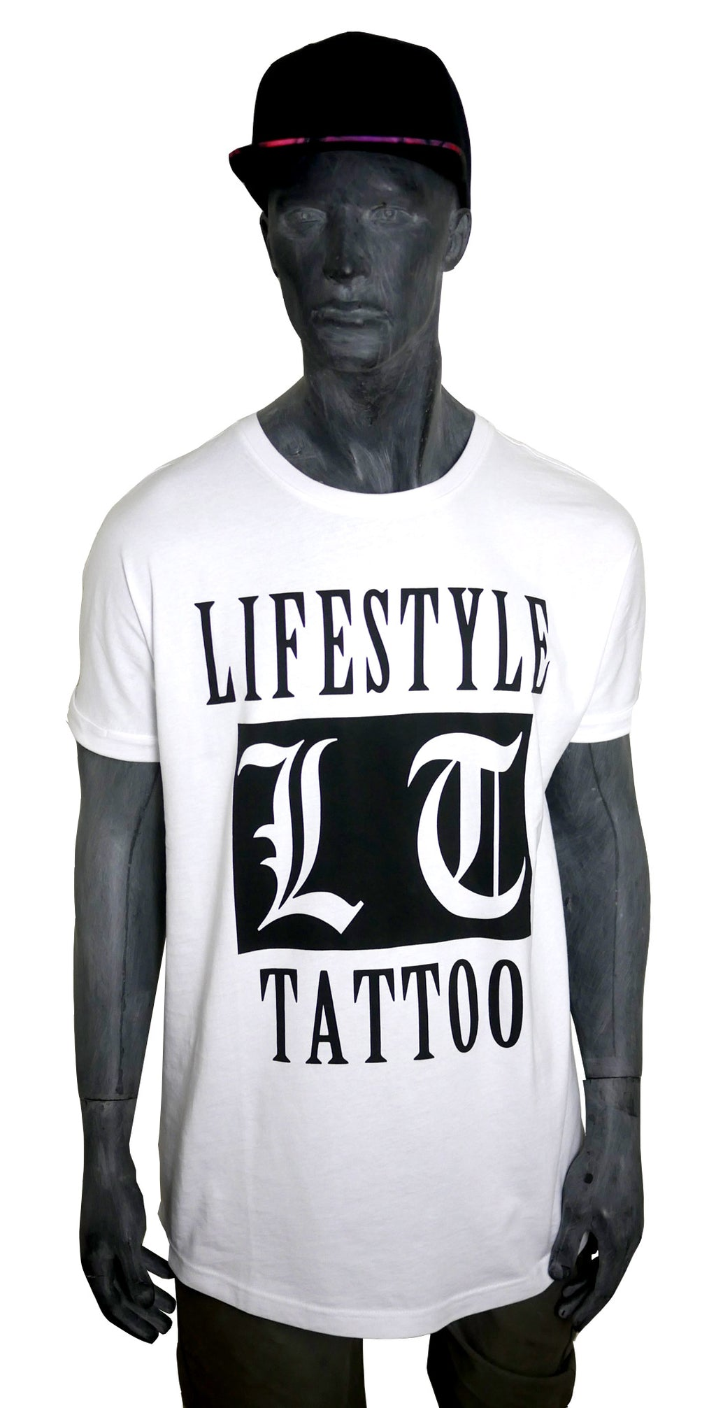 Lifestyle Tattoo LT Box Logo Herr Vit/Svart