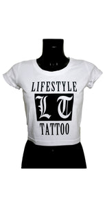 Lifestyle Tattoo LT Box Logo Dam Vit/Svart