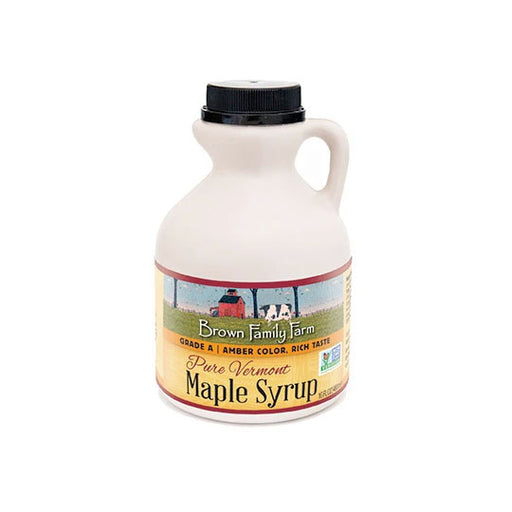 Grade A Amber Color Rich Taste Vermont Maple Syrup, 16 oz. Jug