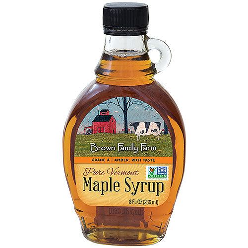 Grade A Amber Color Rich Taste Vermont Maple Syrup, 8 oz. Bottle