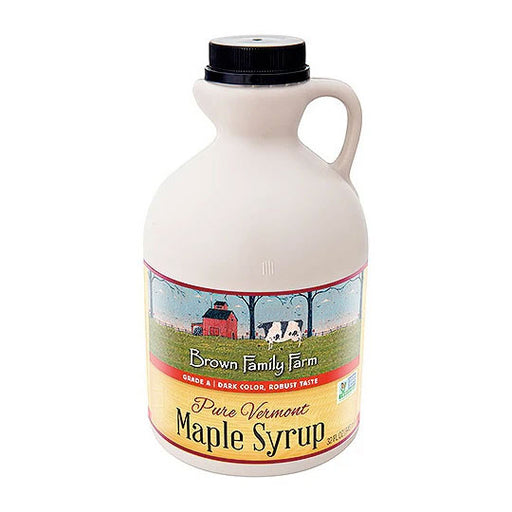 Grade A Dark Color Robust Taste Vermont Maple Syrup, 32 oz. Jug