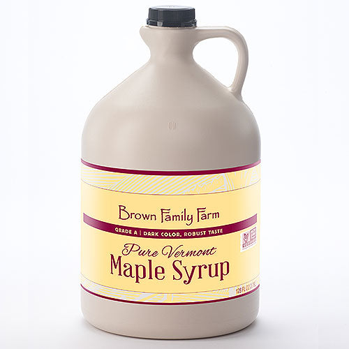 Grade A Dark Color Robust Taste Vermont Maple Syrup, 1 Gallon Jug