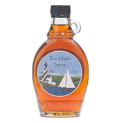 Grade A Dark Color Robust Taste Vermont Maple Syrup, 8 oz. Lighthouse