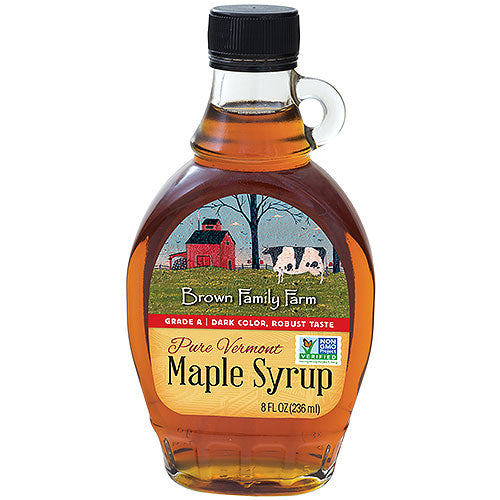 Grade A Dark Color Robust Taste Vermont Maple Syrup, 8 oz.