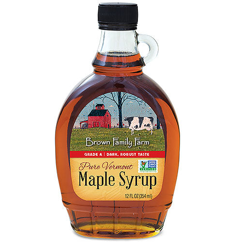 Grade A Dark Color Robust Taste Vermont Maple Syrup, 12 oz.