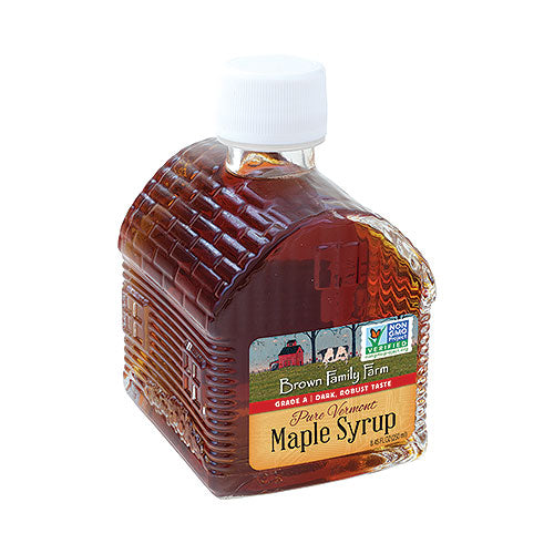 Grade A Dark Color Robust Taste Vermont Maple Syrup, 8.45 oz Log Cabin