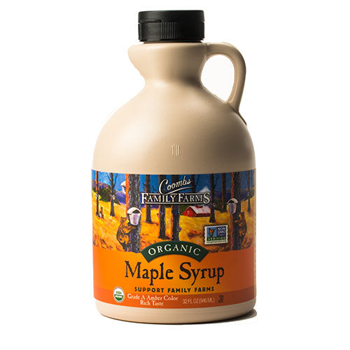 Grade A Amber Color Rich Taste Organic Maple Syrup, 32 oz. Jug