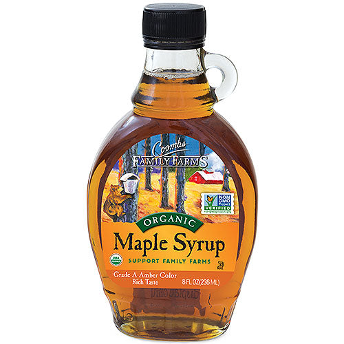 Grade A Amber Color Rich Taste Organic Maple Syrup, 8 oz.