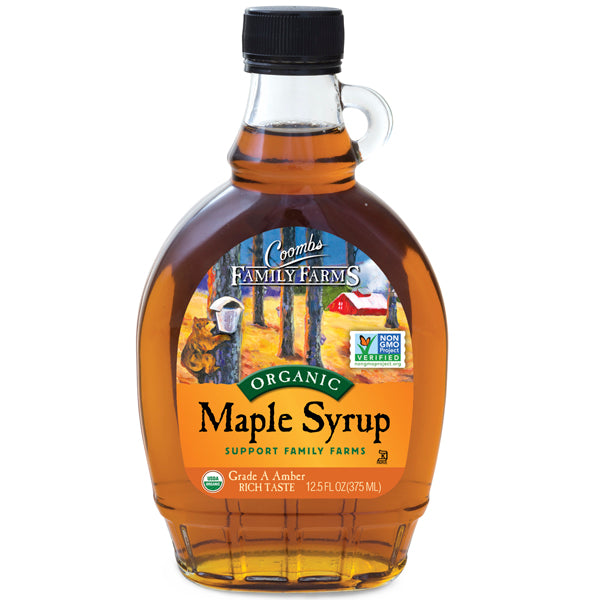 Grade A Amber Color Rich Taste Organic Maple Syrup, 12 oz.