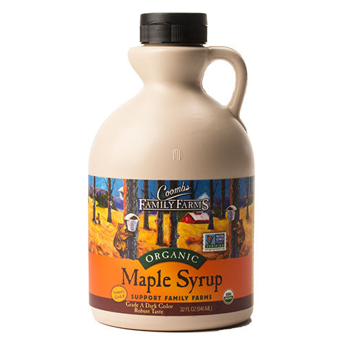 Grade A Dark Color Robust Taste Organic Maple Syrup, 32 oz. Jug