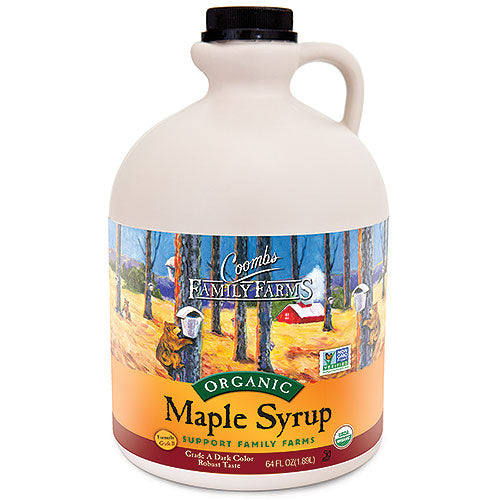 Grade A Dark Color Robust Taste Organic Maple Syrup, 64 oz. Jug