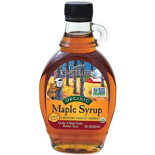 Grade A Dark Color Robust Taste Organic Maple Syrup, 8 oz.