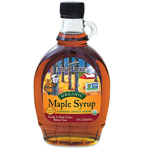 Grade A Dark Color Robust Taste Organic Maple Syrup, 12 oz.