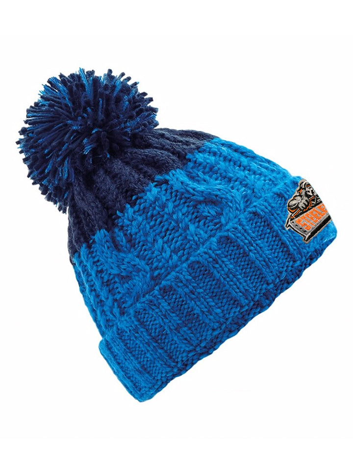Steelers Azure Blue & Oxford Navy Beanie