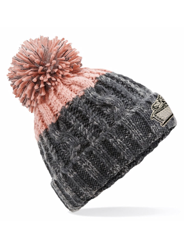 Steelers Graphite Grey & Blush Beanie