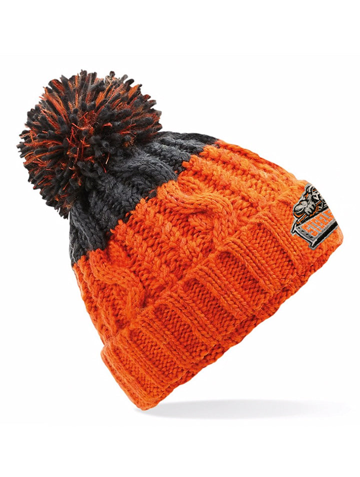 Steelers Orange & Graphite Grey Beanie