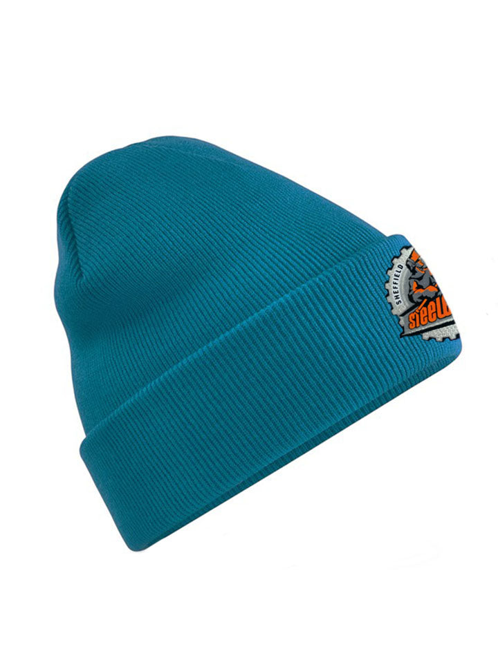 Teal Double Layer Cuffed Beanie