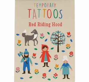 Red Riding Hood Temporary Tattoos