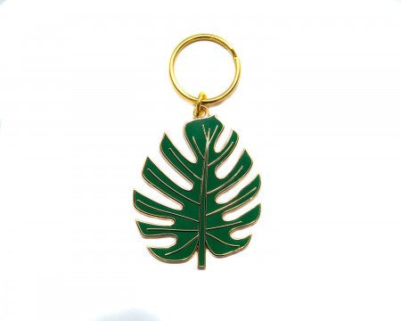 Monstera Leaf Keyring