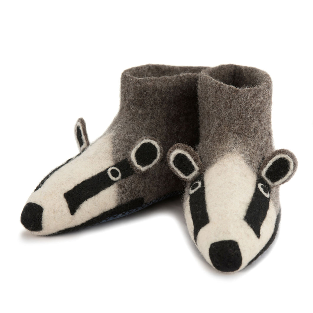 Adult Badger Slippers